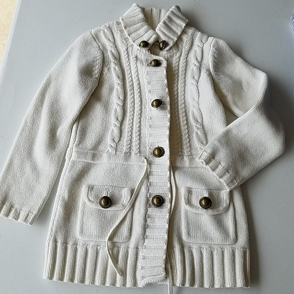 CC. Bates Other - Cream button down sweater